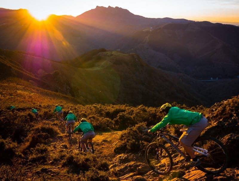 Basque Mountain Biking At Sunset