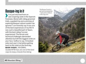 basque mtb mountain bike holiday reviews