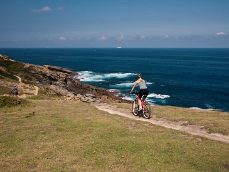 Kevin and Jackie Mountain Biking on the Coast