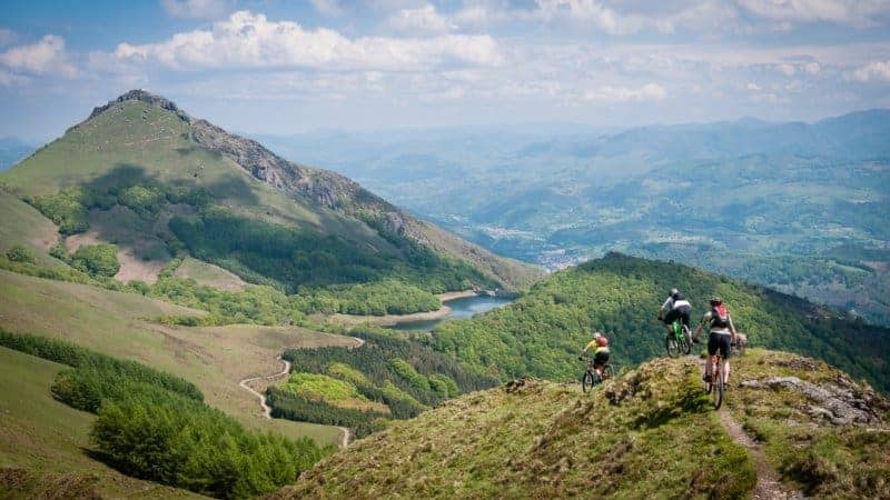 Mountain Biking in the Basque Mountains.