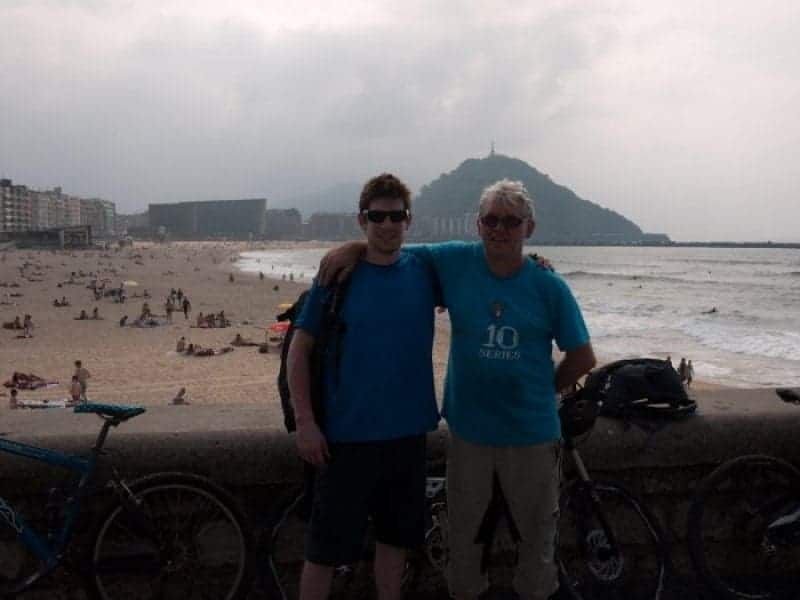 Bill and Craig, Father and Son, On the Beach